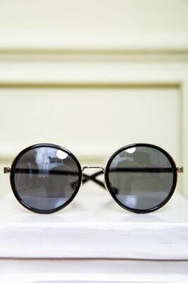 Women's sunglasses color Black-gold