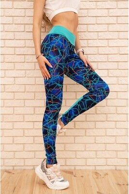 Fitness sports leggings color Black with pink