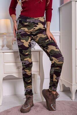 Camouflage women's leggings warm