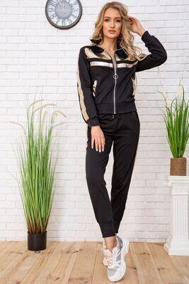 Tracksuit female color Black-gold