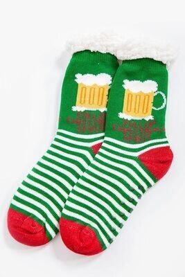 Warm socks, woolen color Green