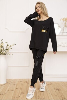 Suit for women oversized Raglan and pants color Black