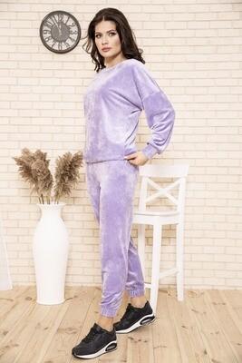 Tracksuit female velor color Lilac