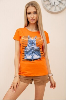 T-shirt for women with a print color Orange