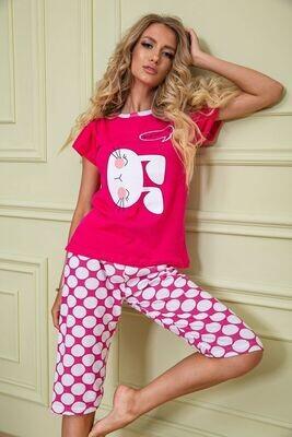 Pajamas for women color Crimson