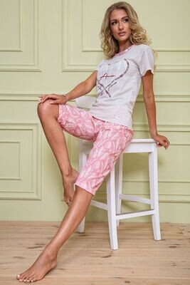 Pajamas for women color Gray pink