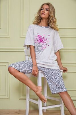 Pajamas women's batal color Gray
