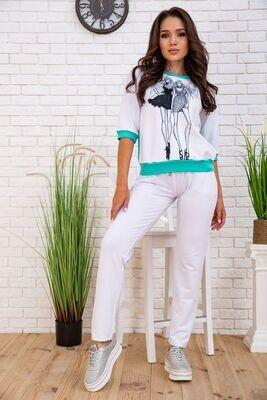 Summer suit women's walking color Mint white