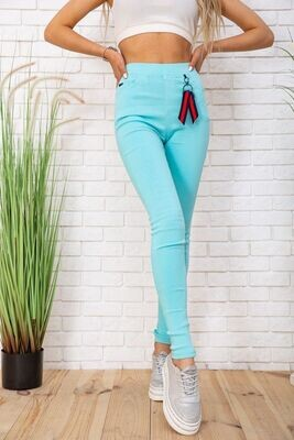 Women's leggings with pockets color Blue