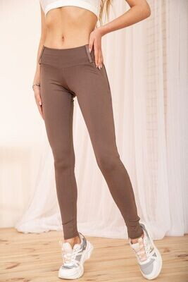 Women's leggings with a high waist color Mocha