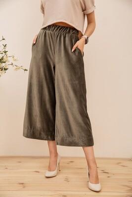 Women's culottes color Khaki