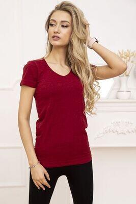 Women's sports t-shirt color Burgundy