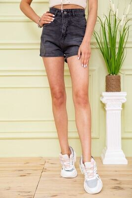 Denim shorts for women color Black