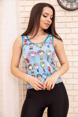 T-shirt for women color Blue