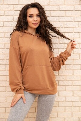 Hoodie female color Brown