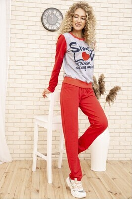 Women's suit two-thread Sweatshirt and pants color Blue