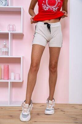 Short knitted shorts for women beige