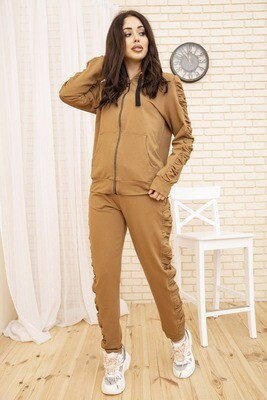 Sports suit female color Khaki