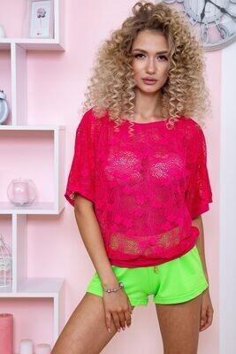 Women's sweater color Raspberry