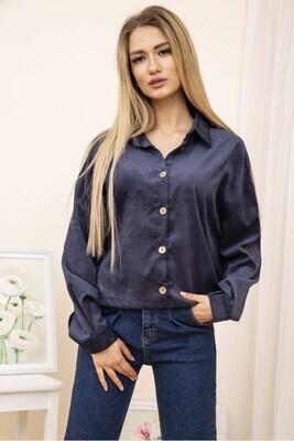 Women's jacket shirt corduroy color Black