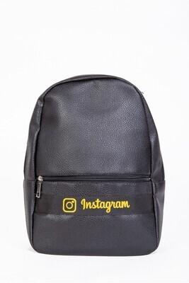 Instagram backpack color Black