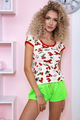 T-shirt for women color Milk-red