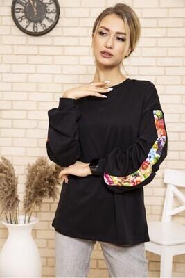 Sweatshirt female color Black