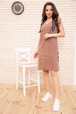 Dress from eco suede color Blue