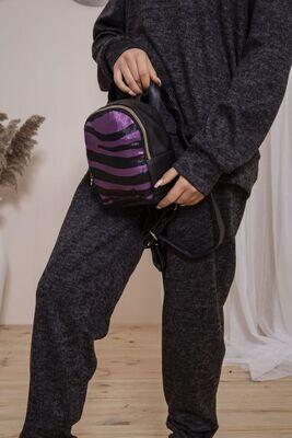 Backpack color Black-violet