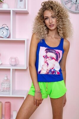 T-shirt female color Electric