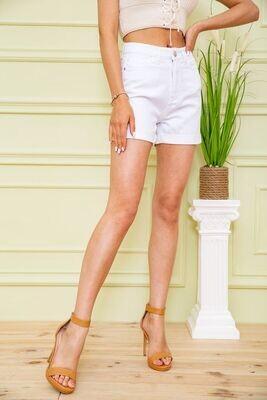 Denim shorts for women color White