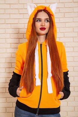 Women's sweatshirt color Orange