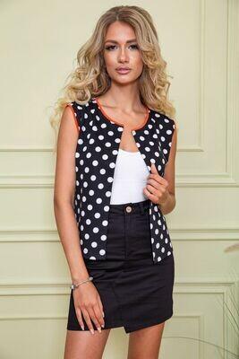 Women's vest in peas color Black and white