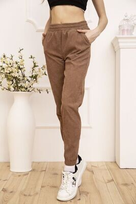 Pants corduroy for women with pockets color Dark blue