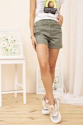 Denim Women's Shorts Loose Color Black