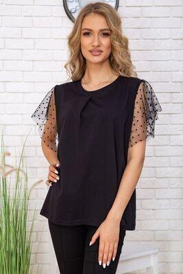 T-shirt for women elegant color Black