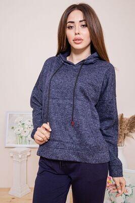 Warmed female body shirt of dark blue color