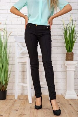 Women's tapered trousers with arrows color Black