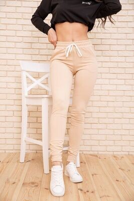 Sports pants for women two-thread color Black