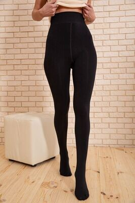 Women's tights, warm color Black