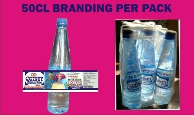 50cl Branding per pack