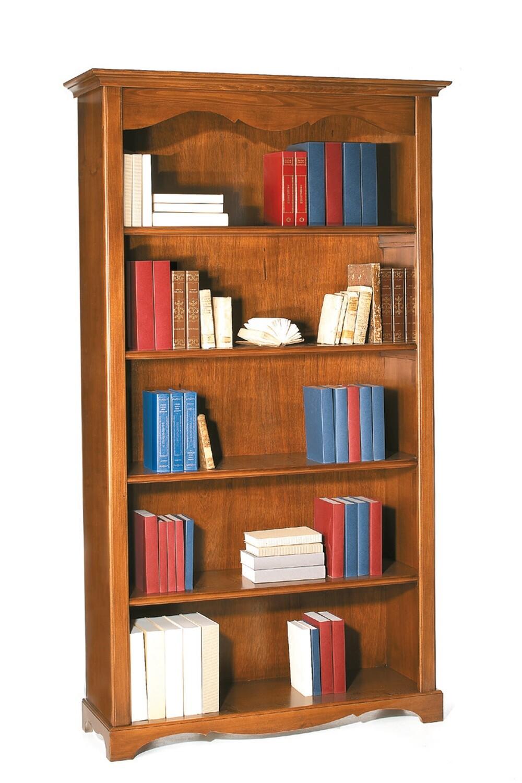 Libreria Legno Massello Lucido Noce