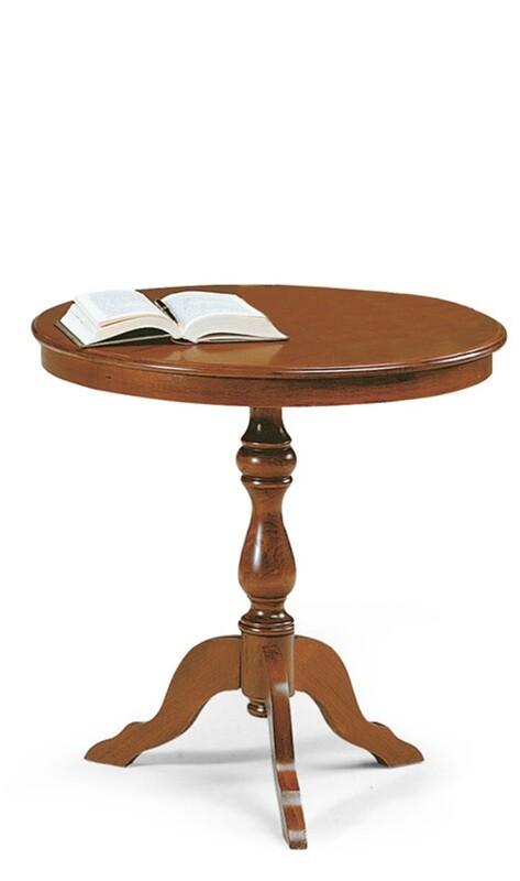 Tavolino Legno Massello Lucido Noce