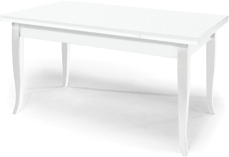 Tavolo Legno Massello Bianco Opaco