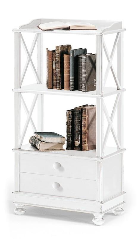 Libreria Legno Massello Bianco Opaco