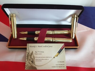 Bullet Fountain Pen & Rollerball Pen Set