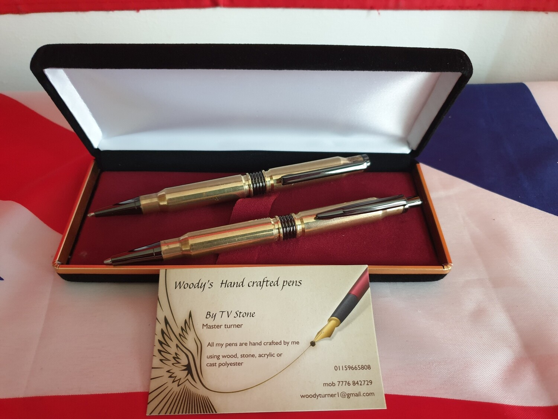 Bullet Rollerball Pen & Propelling Pencil Set