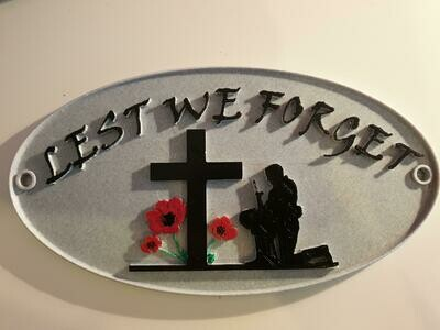 Lest We Forget Sign