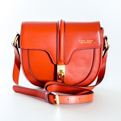 Charles Berkeley Orange-Brown Sling Bag