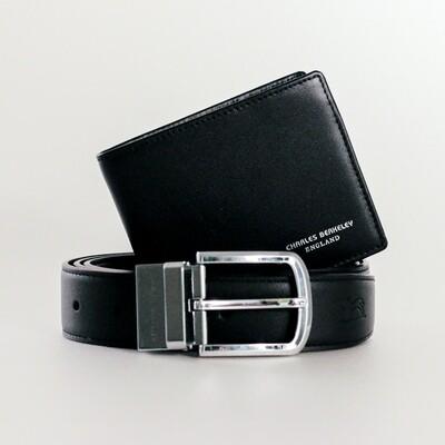Charles Berkeley Black Wallet with Black Belt